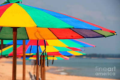 Photograph - Beach Umbrellas Of Bang Saphan #2 by Nola Lee Kelsey