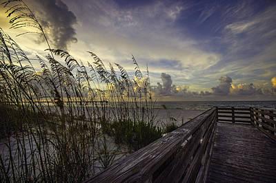 Digital Art - Beach View At Sunrise by Michael Thomas