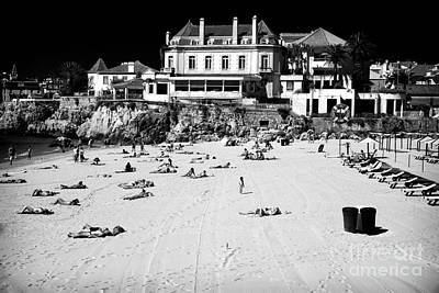 Old School House Photograph - Beach View In Cascais by John Rizzuto
