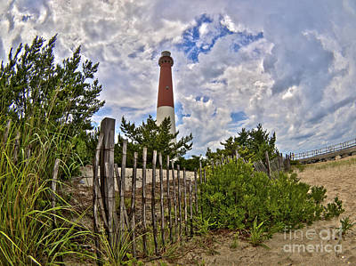 Beach View Of Barney Art Print by Mark Miller