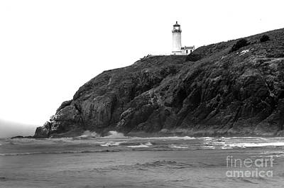 Photograph - Beach View Of North Head Lighthouse by Robert Bales