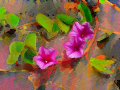 Painting - Beach Vine Vivid - Horizontal by Lyn Voytershark
