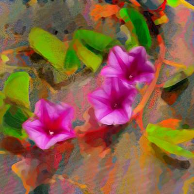Painting - Beach Vine Vivid - Square by Lyn Voytershark