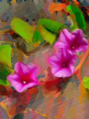 Painting - Beach Vine Vivid - Vertical by Lyn Voytershark