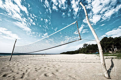 Photograph - Beach Volleyball Net by Yew Kwang
