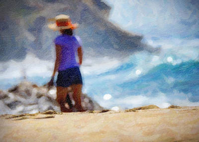 Beach Walk Art Art Print by Vicki Jauron