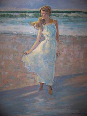 Painting - Beach Walk by Bart DeCeglie