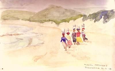Painting - Beach Walk by David  Hawkins