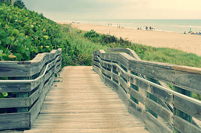 Beach Walk Art Print by Laura Fasulo