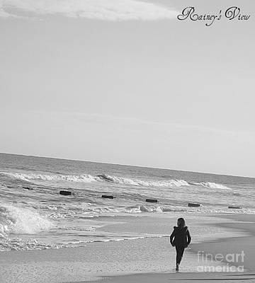 Beach Walk Art Print by Lorraine Heath