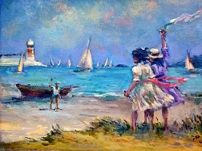 Painting - Beach Walk by Philip Corley