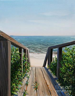 Beach Walk Way Art Print by Paul Walsh