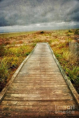 Photograph - Beach Walkway by Debra Fedchin