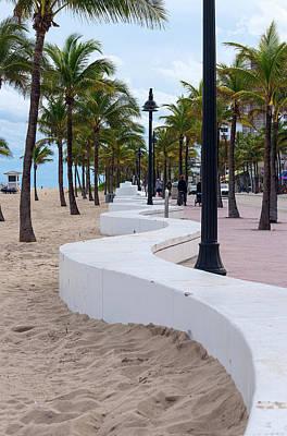 Beach Wall In Fort Lauderdale, Broward Art Print
