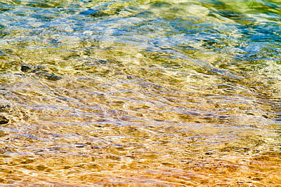 Photograph - Beach Water Abstract by Peta Thames