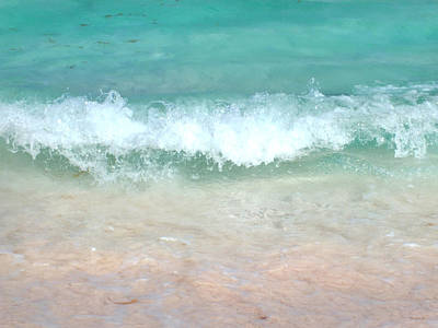 Photograph - Beach Wave And Pink Sand by Duane McCullough