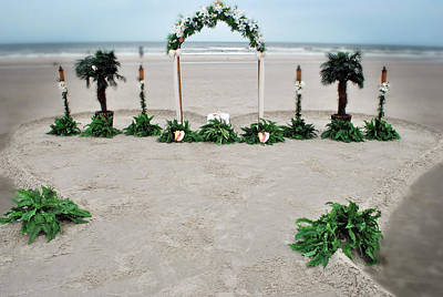 Photograph - Beach Wedding Setting by George Taylor