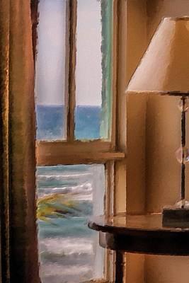 Beach Window Art Print by Andrea  OConnell