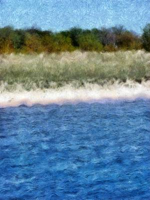 Painting - Beach With Short Dune by Michelle Calkins