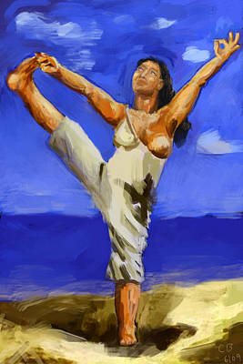 Painting - Beach Yoga by Chris Brown