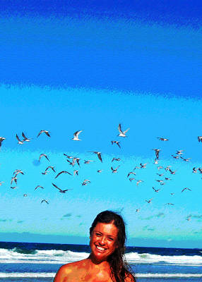 Photograph - Beachbirds by Ankya Klay