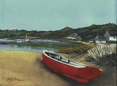 Beached Boat Art Print by Diane Strain