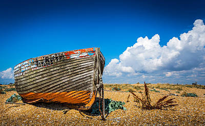 Photograph - Beached Boat by Gary Gillette