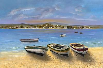 Hargrove Painting - Beached Boats by H Hargrove