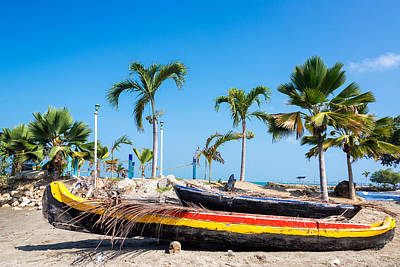 Tolu Photograph - Beached Canoes by Jess Kraft
