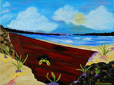 Art Print featuring the painting Beached by Celeste Manning
