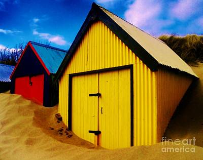 Beached Hut Art Print