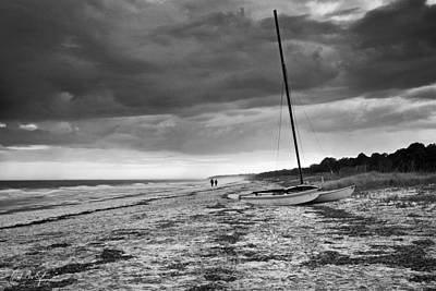 Beaufort County Photograph - Beached In Black And White by Phill Doherty
