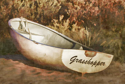 Grasshopper Photograph - Beached Rowboat by Carol Leigh