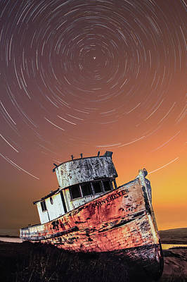 Photograph - Beached Star Trails by PhotoWorks By Don Hoekwater