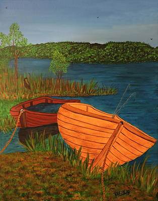 Canadian Sports Artist Painting - Beached Till The Next Time by Doug Wilkie