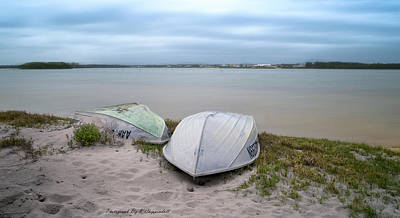 Photograph - Beached Tinnies 01 by Kevin Chippindall