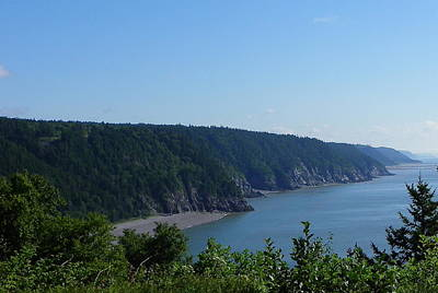 Photograph - Beaches And Cliffs Of The Fundy Trail by Georgia Hamlin