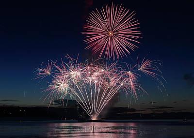 New Years - Beachfest Fireworks 2013 by Randy Hall