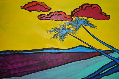 Peter Max Painting - beachMax by DC Decker