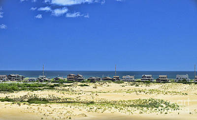Photograph - Beachouses As Seen From Jockey's Ridge State Park by Allen Beatty