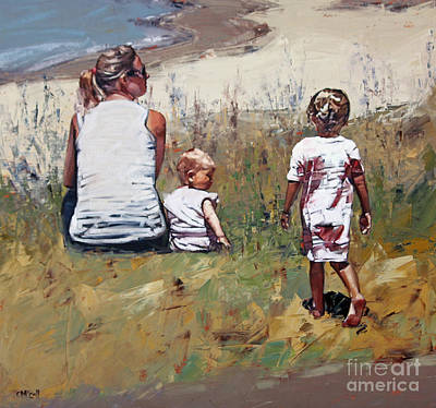 Child Painting - Beachside Iv by Claire McCall