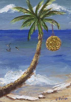 Painting - Beachy Christmas by Jamie Frier