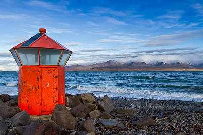 Photograph - Beacon At Hvaleyrarviti In Iceland by Andres Leon