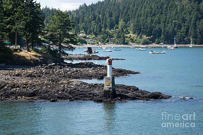 Beacon At Snug Cove Art Print