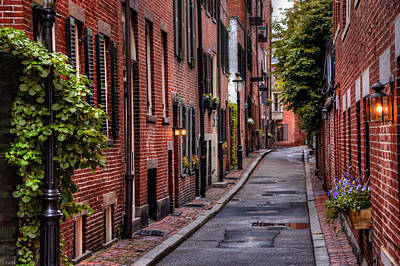 Winter Photograph - Beacon Hill Boston by Carol Japp