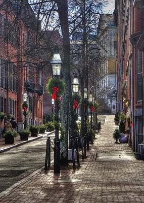 Photograph - Beacon Hill Christmas Card 2 by Joann Vitali