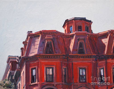 Beacon Hill Painting - Beacon Hill Rooftops by Deb Putnam