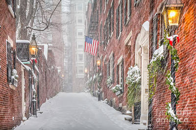 Photograph - Beacon Hill Snowstorm by Susan Cole Kelly