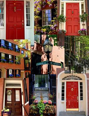 Beacon Hill  Windows Doors And More Art Print by Caroline Stella
