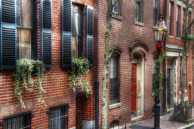 Photograph - Beacon Hill Winter Dressings by Joann Vitali